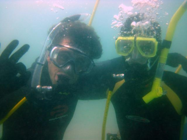 Eric and James diving